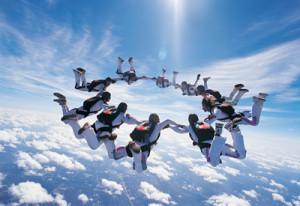 netwerkperspectief - skydiving
